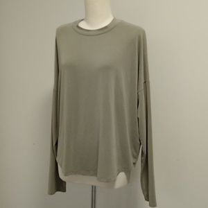 Madewell muted green XL drop shoulder dolman tee